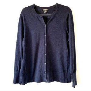 Eddie Bauer blue cardigan sweater  size XL